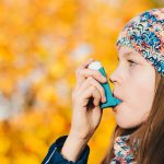Asthma patient girl